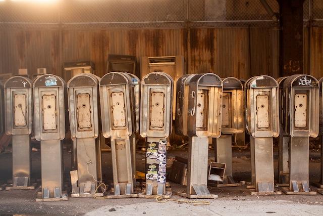 pay phone graveyard